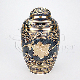 Marble Patina Brass Metal Cremation Urn