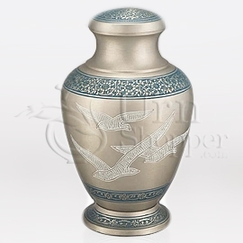 Vendome Doves Brass Metal Cremation Urn