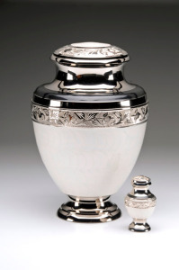 White Enamel Cremation Urns