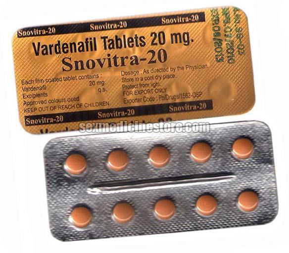 Snovitra 20 Mg Vardenafil Tablet