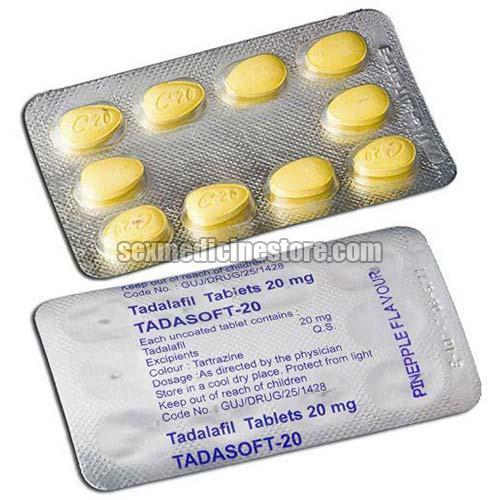 Tadasoft 20 Mg Tadalafil Tablet
