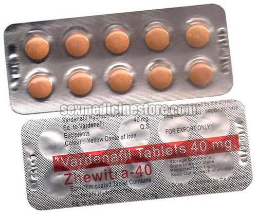 Zhewitra 40 Mg  Vardenafil Tablet