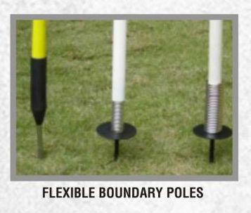 Flexible Boundary Poles