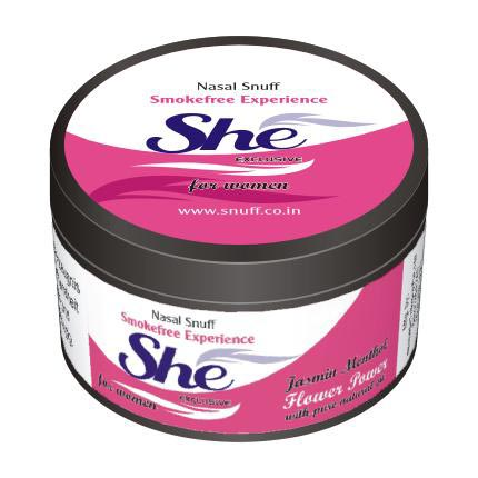 25 gm She Jasmine Menthol Non Herbal Snuff