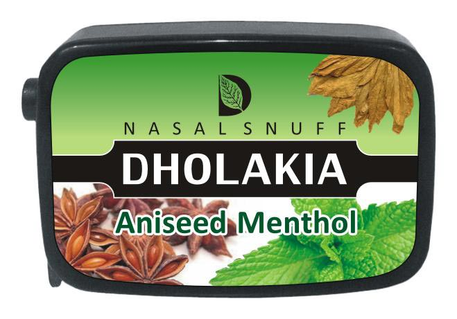 9 gm Dholakia Aniseed Menthol Non Herbal Snuff