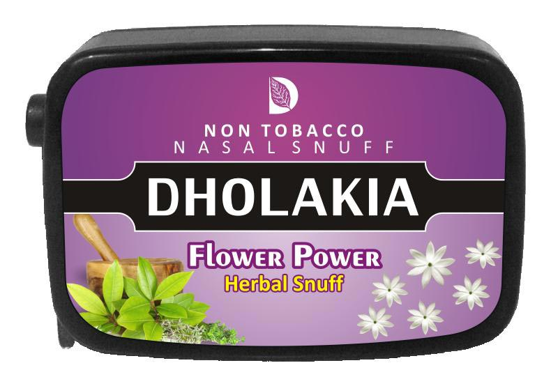 9 gm Dholakia Flower Power Herbal Snuff