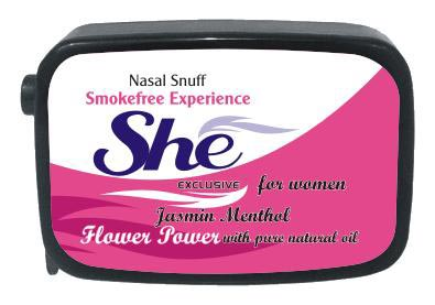 9 gm She Jasmine Menthol Non Herbal Snuff