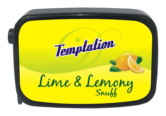 9 gm Temptation Lime & Lemony Non Herbal Snuff