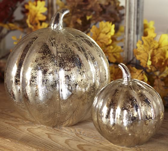 Decorative Glass Pumpkin 01