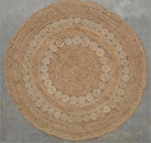 Decorative Round Jute Rug Country India Braided Mats Manufacturer Exporter In