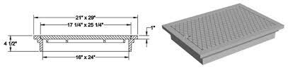 BS 497/76 Rectangular Manhole Cover & Frames
