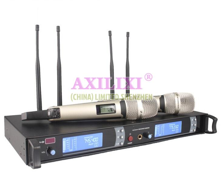 LONGER AUDIOS 2 channel wireless microphone skm-9000 System