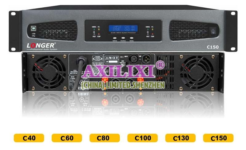 LONGER Audio 2x150 Watts Professional stereo Power Amplifier C-150