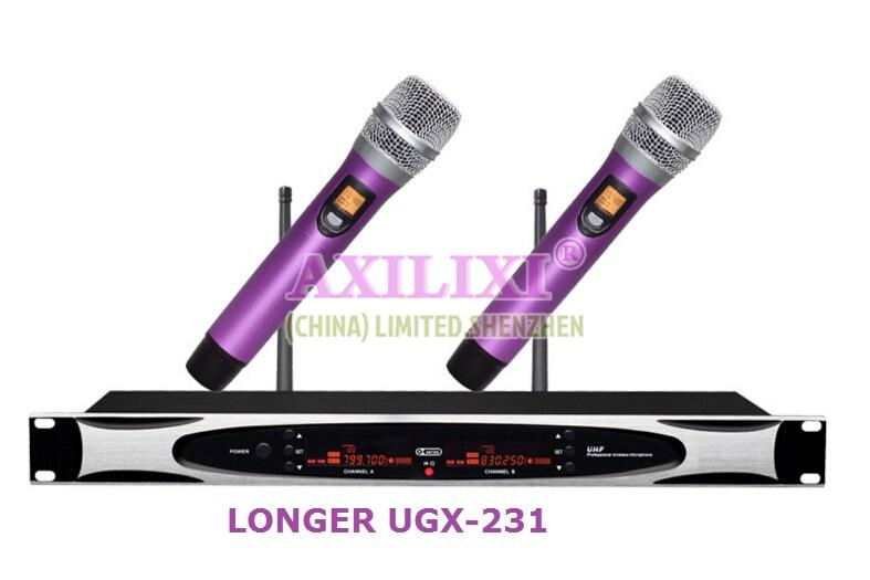 UHF True Diversity Wireless Microphone LONGER UGX-231X3