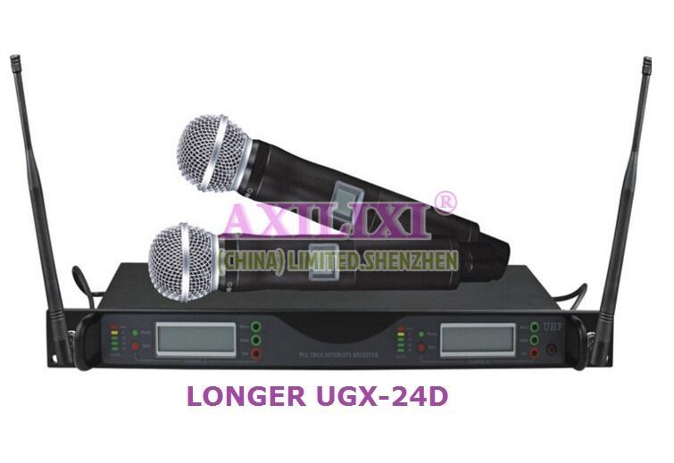 2x100 Channel LONGER UGX-24D Wireless Microphone