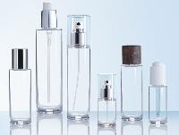 glass cosmetics bottle