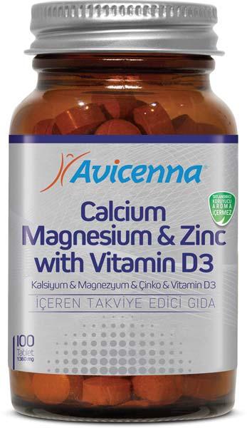 Calcium Magnesium Zinc Vitamin D3 Tablets