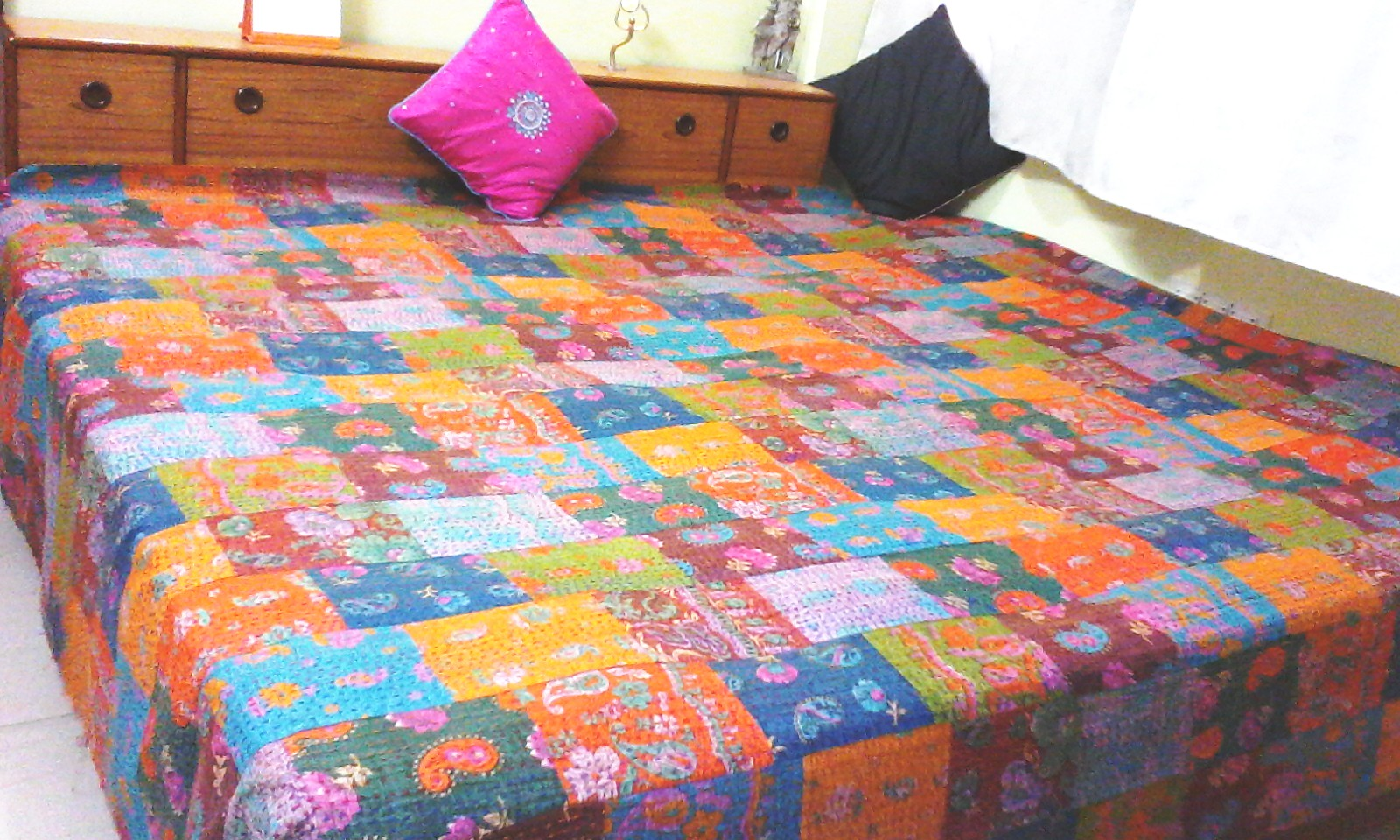 Patchwork Needlework Bed Covers
