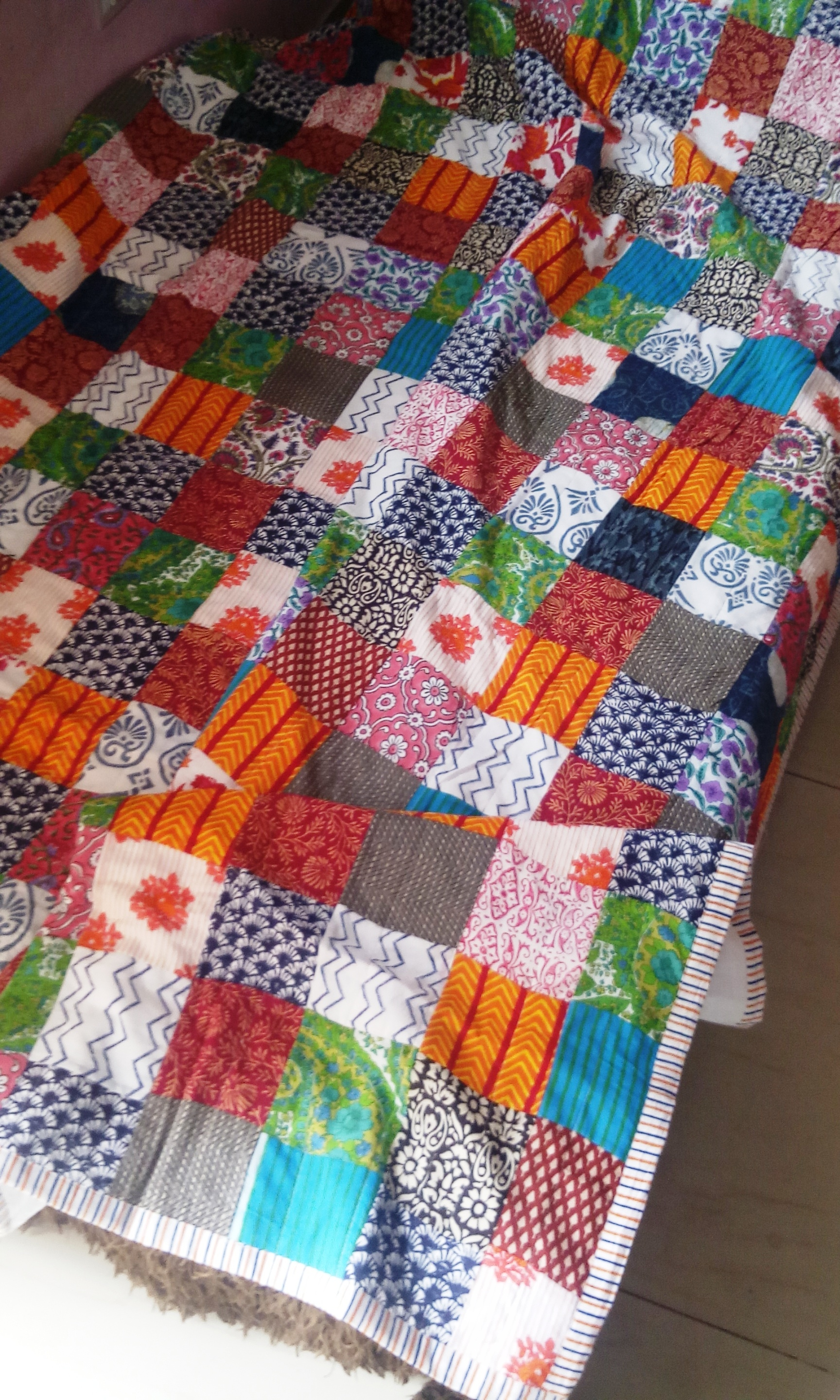 Quilted Bed Comforter (Patchwork)