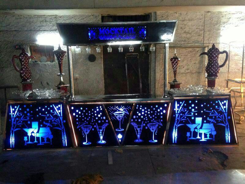 Acrylic Mocktail Counter Acrylic Mocktail Counter
