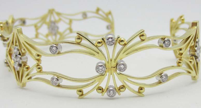 Diamond Cuff Bracelet (CWDCB233)