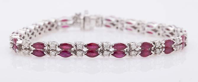 Diamond Gemstone Bracelet (CWDGB332)