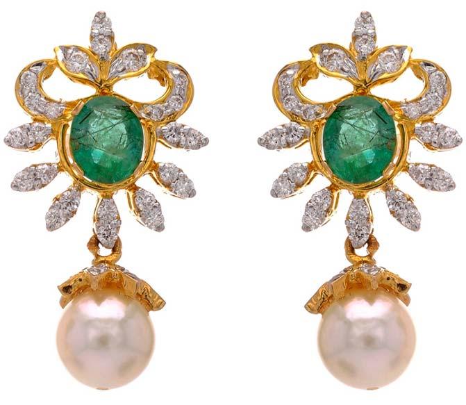 Diamond Gemstone Earring (CWDGE203)