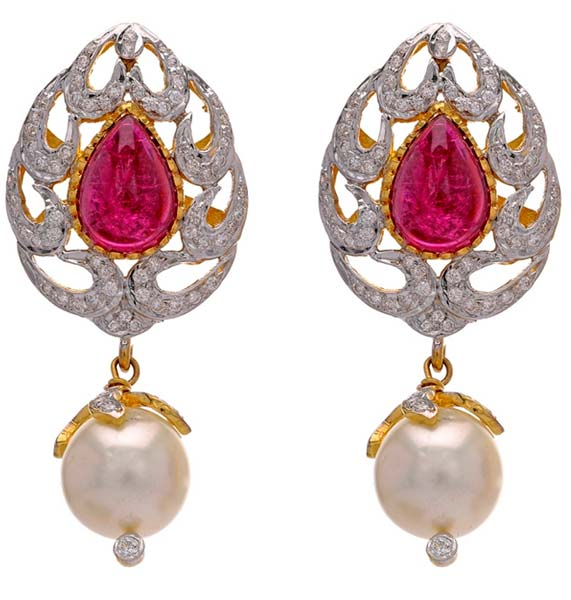 Diamond Gemstone Earring (CWDGE204)