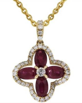Diamond Gemstone Pendant (CWDGP219)
