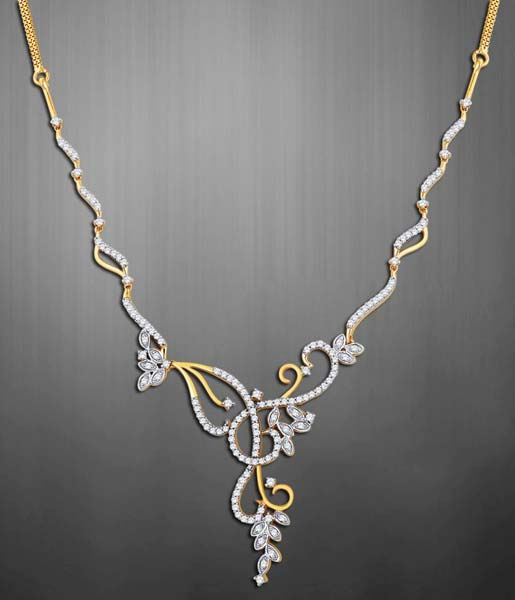 Diamond Gold Necklace (CWDGN002)