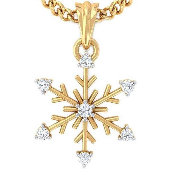 Diamond Gold Pendant (CWDP217)