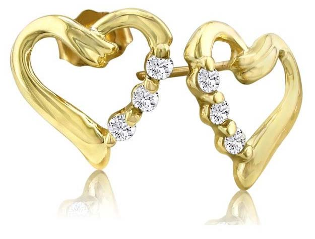 Diamond Heart Earring (CWDHE210)