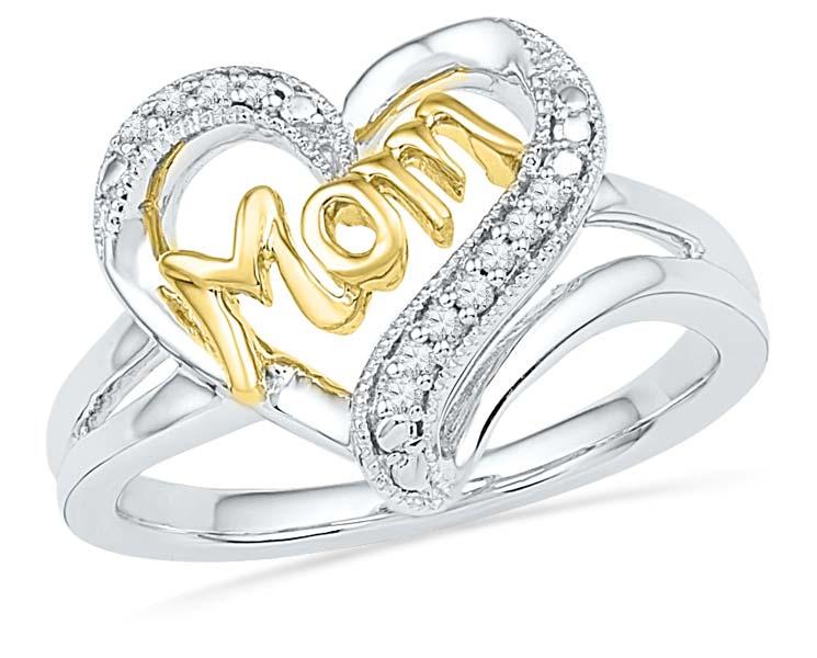 Diamond Heart Shaped Ring (CWHGR0001)