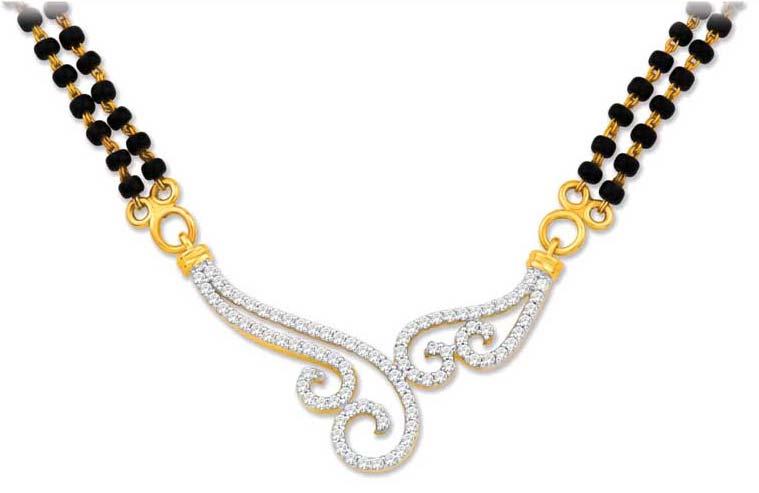 Diamond Mangalsutra Pendant (CWDM225)