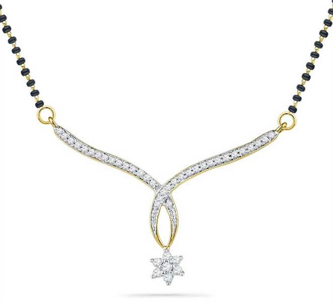 Diamond Mangalsutra Pendant (CWDM226)