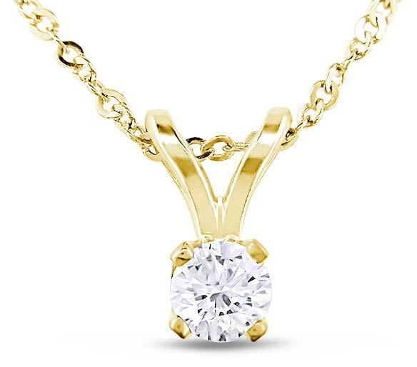 Diamond Solitaire Pendant (CWDSP222)