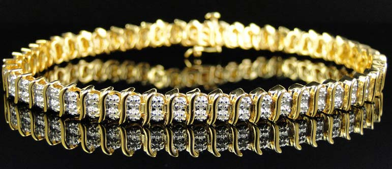 Diamond Tennis Bracelet (CWDTB227)