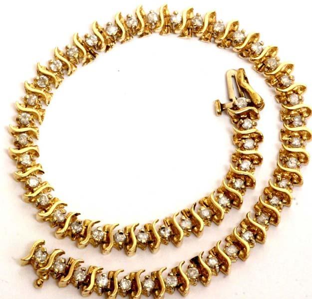 Diamond Tennis Bracelet (CWDTB228)