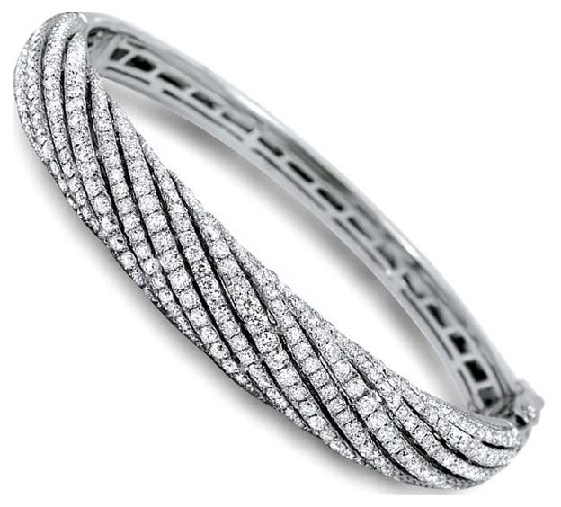 Diamond White Gold Bracelet (CWDWGB229)