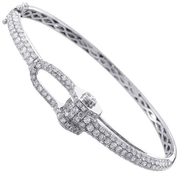 Diamond White Gold Bracelet (CWDWGB230)