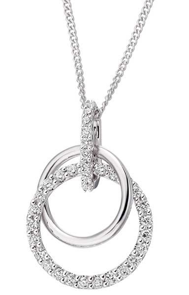 Diamond White Gold Pendant (CWDWGP223)