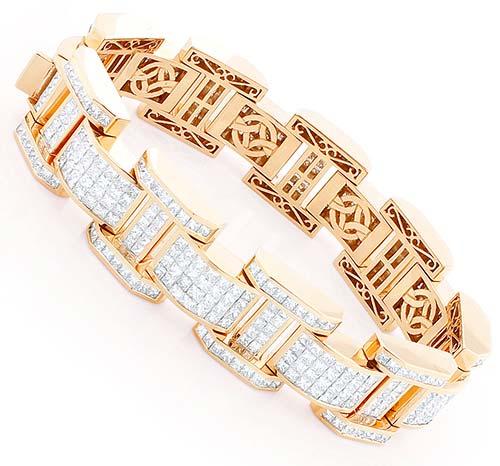Mens Diamond Bracelet (CWMGB002)