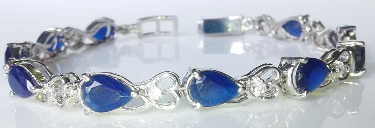 Silver CZ Bracelet (CWCZB269)
