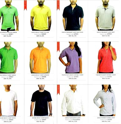 T-Shirt Shade Card 02
