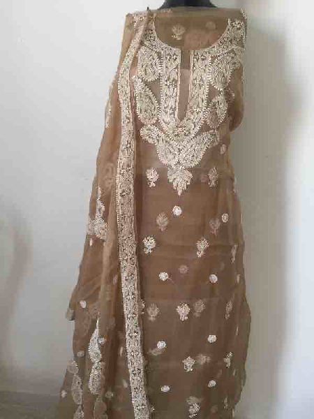 Chikankari Embroidered Fabrics 02
