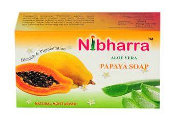 Nibharra Aloe Vera Papaya Soap