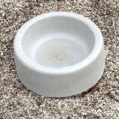 Concrete Dog Bowl