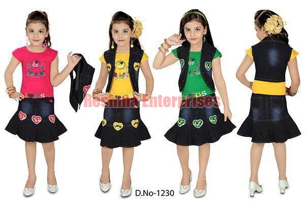 Girls Denim Jacket (D. No. : 1230)