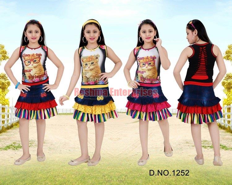 Girls Denim Skirts (D.No. : 1252)