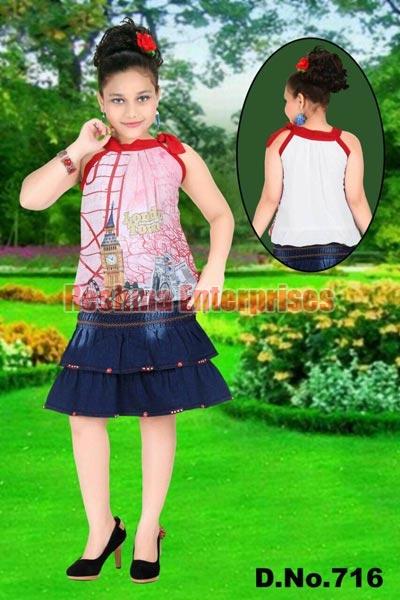 Girls Denim Skirts (D.No. : 716)